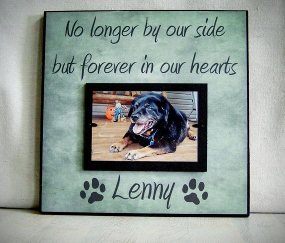 Personalized Pet Picture Frame Pet Memorial por YourPictureStory