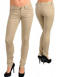 Khaki skinny jeans on sale