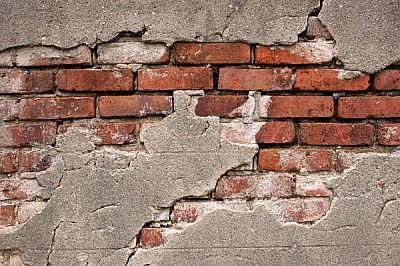 Broken Concrete Over Red Brick Broken Brick Pinterest