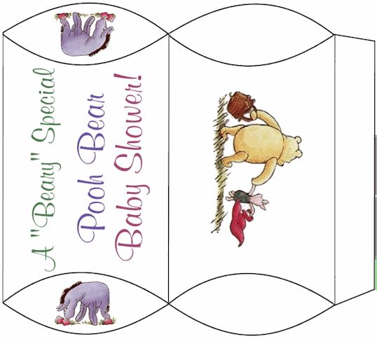 Winnie The Pooh Templates For Baby Shower: Pooh Bear Baby Shower Pillow Box