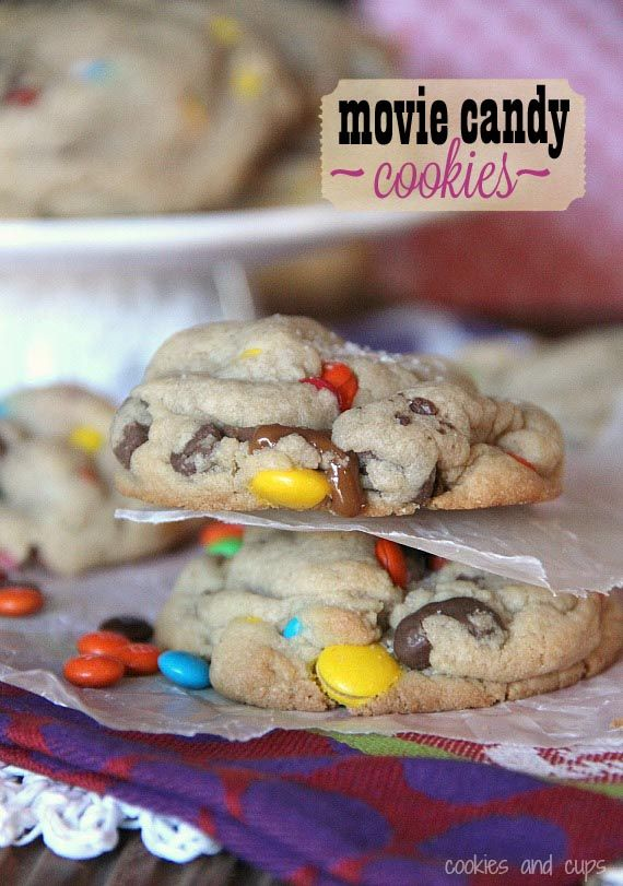 Movie Candy Cookies!  Totally adaptable for your own movie candy favorites :)