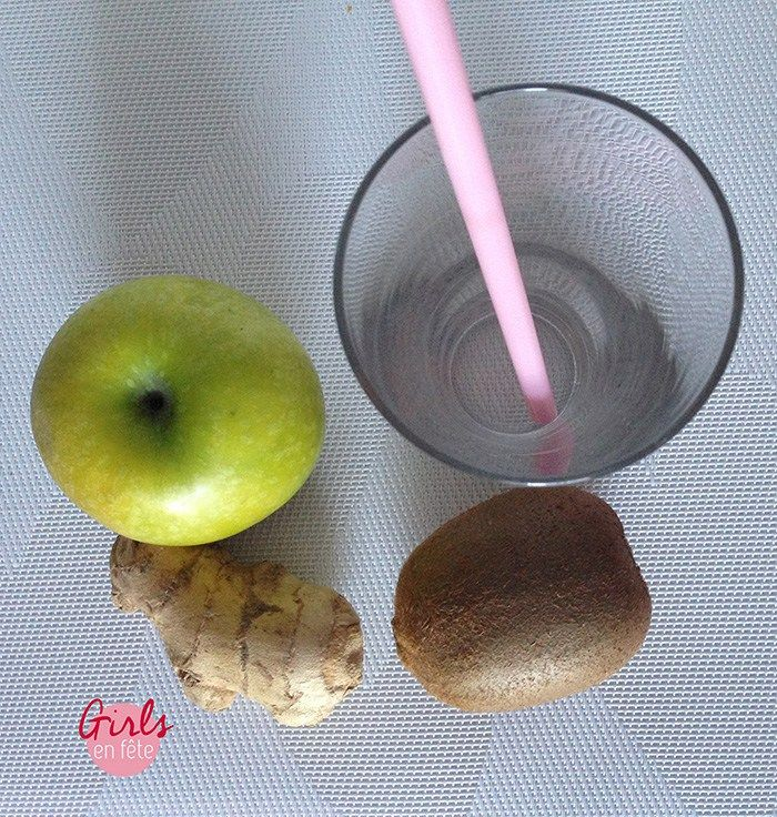 Smoothie Pomme verte Kiwi Gingembre - Les Plumettes Retrouvez d'autres articles #cuisine et #recettes sur le #webzine des #plumettes : www.les-plumettes.com #gourmand #idées #inspirations