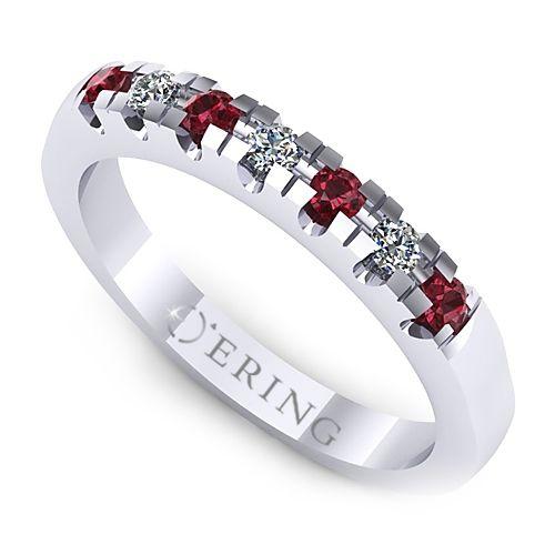 Inel logodna L15ADIRB inel cu diamant si rubin