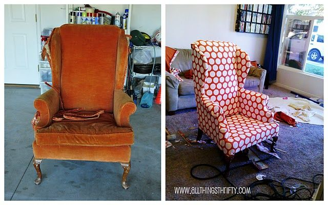 Top 10 Upholstery Tips by All Things Thrifty: Projects, Wings Chairs, Home Accessories, Tops 10, 10 Upholstery, Tips, Things Thrifty, Old Chairs, Wingback Chairs