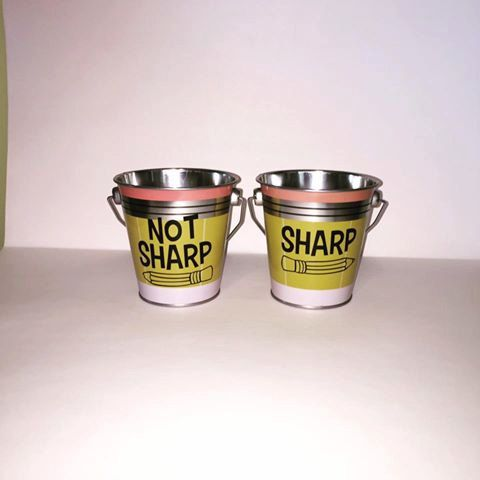 Sharp / Not Sharp Pencil DECALS by MrsHoffersSpot on Etsy  Comes with instructions on how to apply!