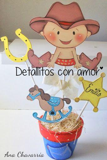 Centro de mesa( vaquerito) https://www.facebook.com/pages/Detallitos-con-amor/226388200757614?ref=br_rs