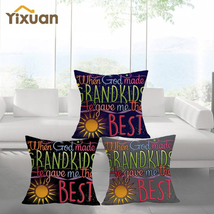 Stylish Letter Printed Cushion Cover Home Decor Hippy Throw Pillow Case Cover for Decoration Drop Shipping
