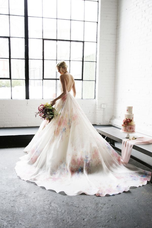 Jaw-Dropping Watercolor Wedding Inspo