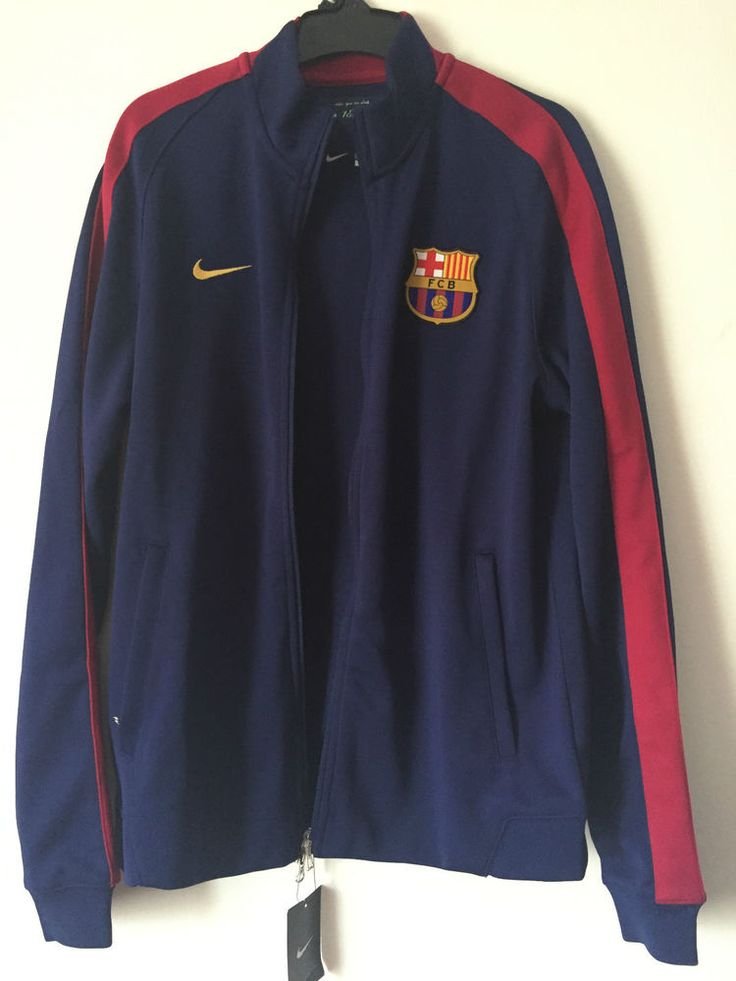 NEW Barcelona Nike TrackSuit Original Top Men Bleu Jacket size M #Nike #Tracksuit