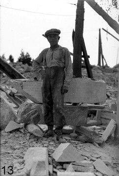 A stoneworker at the soapstone quarry.