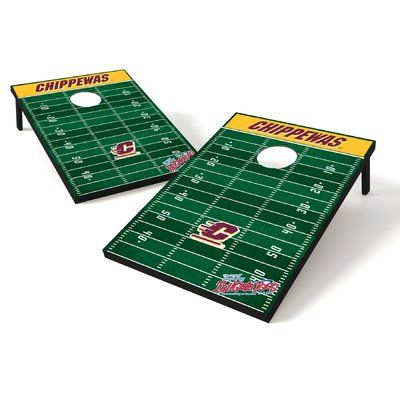 Tailgate Toss NCAA 10 Piece Cornhole Game Set NCAA Team: Central Michigan