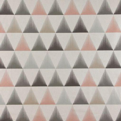 Baumwolle, Grau mit puder/sand Dreiecken