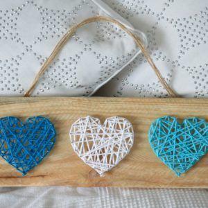 string art 3 coeurs sur palettes recyclées (2)