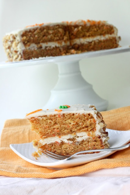 Carrot Cake with Cinnamon Maple Frosting
