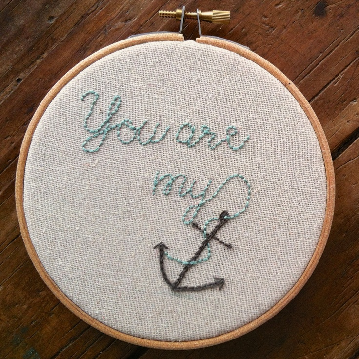 anchor PDF embroidery pattern. <3
