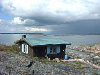 Tove Jansson's cottage @ Pellinki, Finland.  Creator of the Moomins.