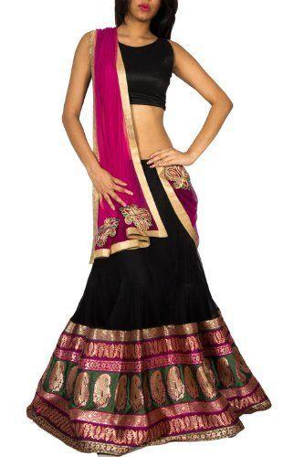 Black Lehenga with Grand Banarasi Brocade, http://www.junglee.com/dp/B00CX08AS4/ref=cm_sw_cl_pt_dp_B00CX08AS4