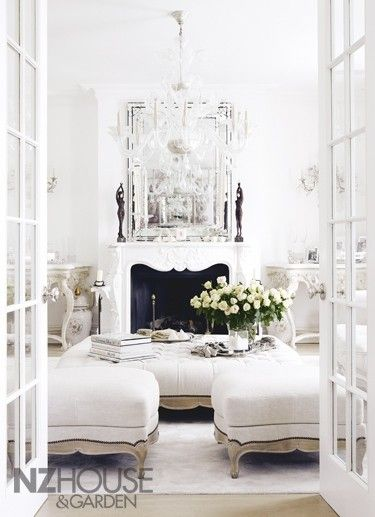 luxury french interiors...perfect combination of style comfort. Works well in small living room.