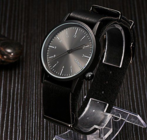 AENHG Slim Leather Watch brand simple scale mens watches * See this great product.
