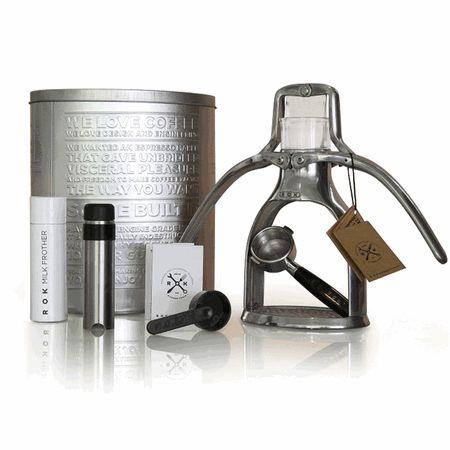 The ROK Espresso Maker is a manual non-electric espresso machine. Make a great espresso with a machine that cost less than $200