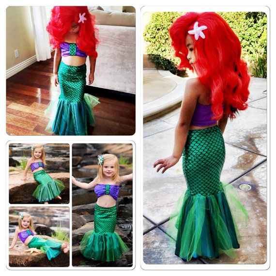 HAVANNA mermaid costume with fabric shells top by MTBGBOUTIQUE