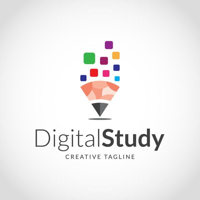 Creative Digital Study Logo Design In 2020 Education Logo Design Library Logo Learning Logo