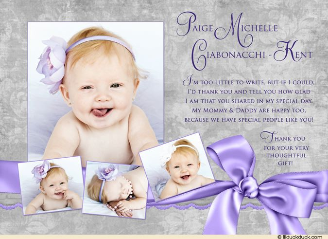 christening thank you wording | Baptism Celebration Thank You Cards - Three…