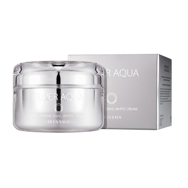 Strawberrycoco - MISSHA Super Aqua Cell Renew Snail White Cream, $39.99 (http://strawberrycoco.com/beauty/missha-super-aqua-cell-renew-snail-white-cream/)