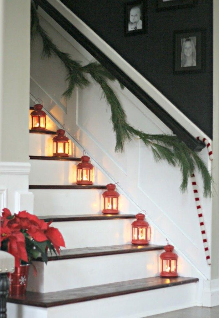 40 erstaunliche Weihnachtstreppen-Dekorations-Ideen | Design-Ideen ...