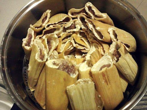 Tamales sin manteca con yogurth