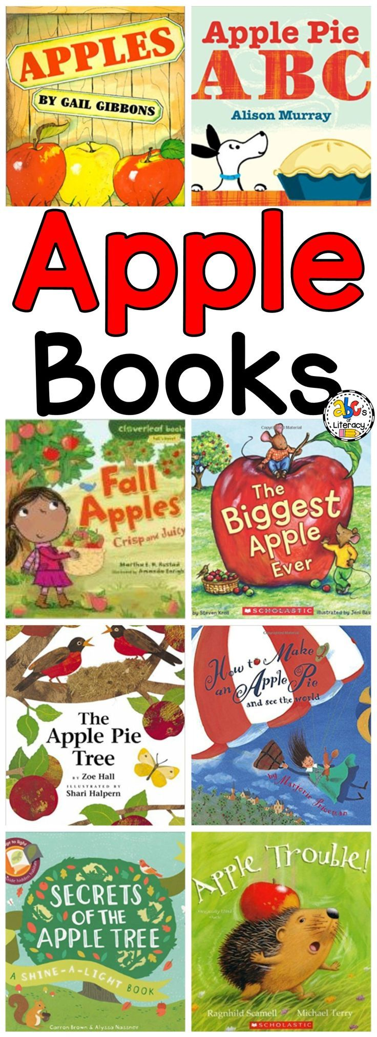 Whether you are teaching children about Fall, healthy eating or just reading Apple Books for fun, these are the best. With a variety of different styles and images, you and your kids will never get bored. Click on the picture to find over 20 Apple Picture Books!