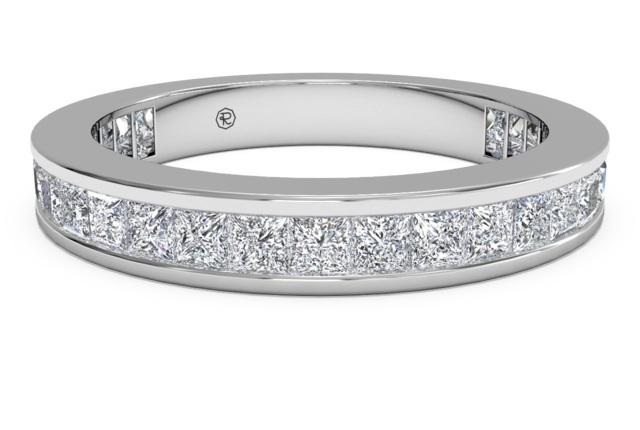 Women's Channel-Set Princess Diamond Eternity Wedding Band
