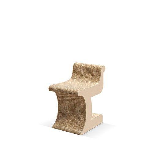 IBIS - Carton Factory Designer: Skemp Design Misure: 35 X 44 X 62h  Ispirata all'uccello Ibis questa sedia in cartone ha una linea leggera ed elegante. Disponibile nella versione MDF avana o MDF bianco.   #cartonfactory #cardboard #ecodesign #cardboard #chair