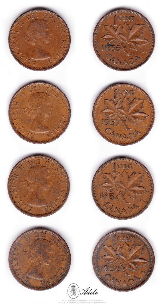 91 best canadian history images on pinterest canadian history 22 1953 to 1964 canadian pennies 1c elizabeth ii dei fandeluxe Choice Image