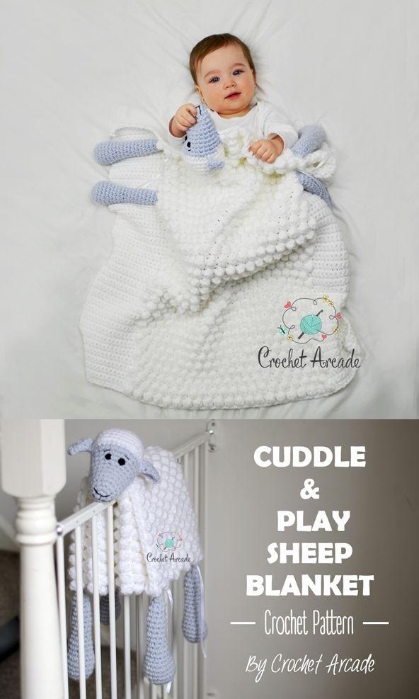 Cuddle and Play Sheep Blanket pattern by Aneta Izabela   Crochet ...