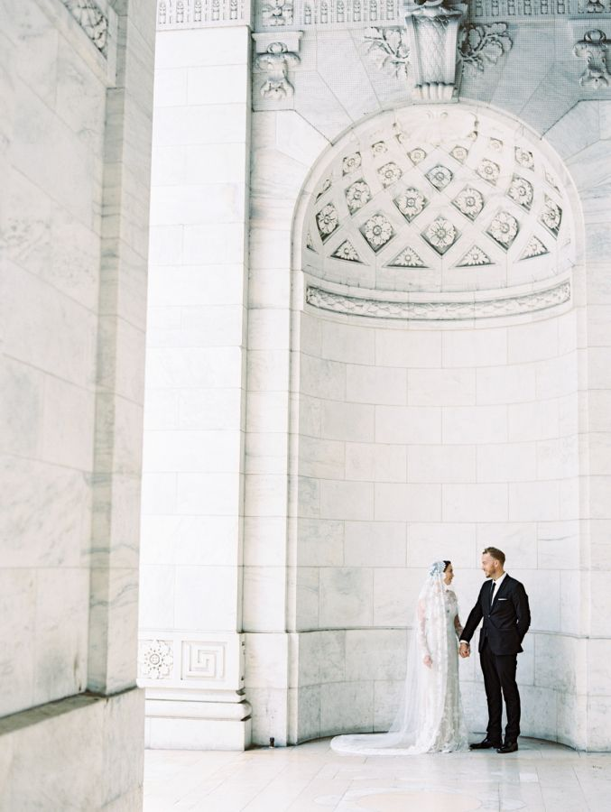 Gorgeous NYC Public Library elopement: http://www.stylemepretty.com/new-york-weddings/new-york-city/manhattan/2016/04/07/106-reasons-why-you-should-elope-in-a-nyc-library/ | Photography: D'Arcy Benincosa - http://www.benincosaweddings.com/