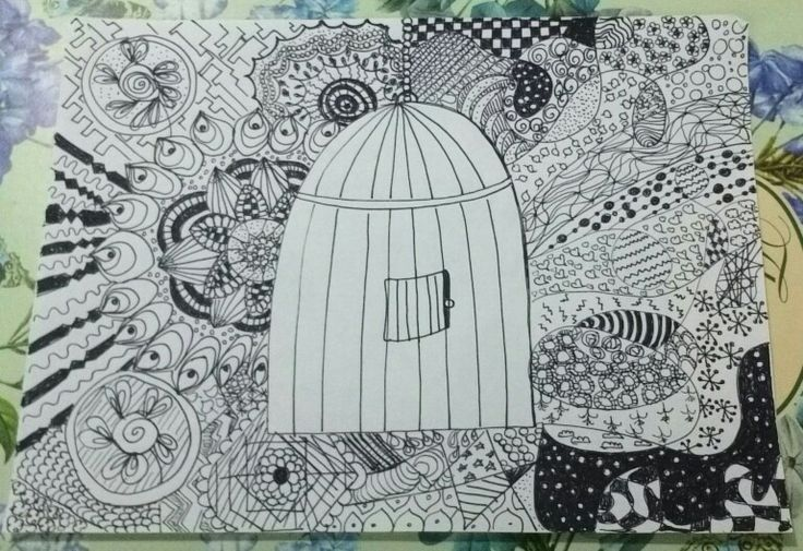 Freedom zentangle by ilaria donadio