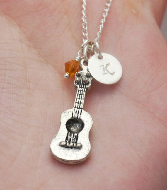 guitar necklace acoustic guitar necklace gift for girl guitar player girls guitar necklace. Black Bedroom Furniture Sets. Home Design Ideas