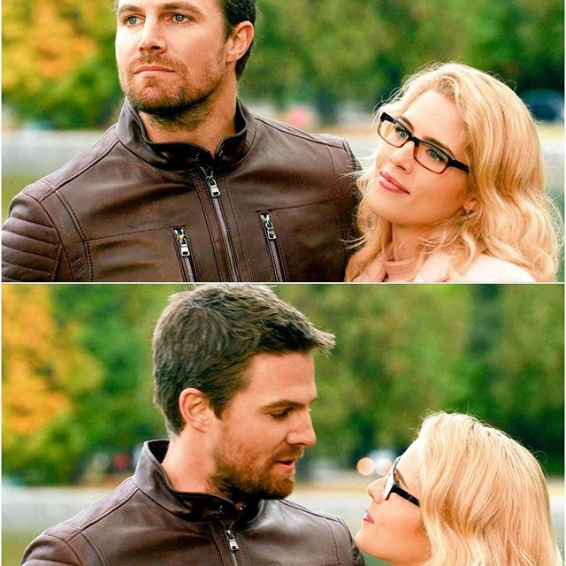 . Imagine calling Olicity father/daughter duo because you are that jealous over them. It's disgusting on so many levels. But lmao Oliver is 5 years older than Felicity. I didnt khow that 5 year old kid can have their own kids WA stans are so gross. I actually find westallen cute but most of their fans are disgusting. . . . #arrow #stephenamell #oliverqueen #greenarrow #olicity #stemily #emilybettrickards #emilybett #felicitysmoak #arrowseason6