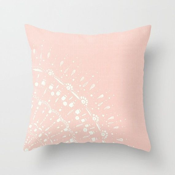 Pale Pink Throw Pillow Cover pink throw pillow blush by lake1221