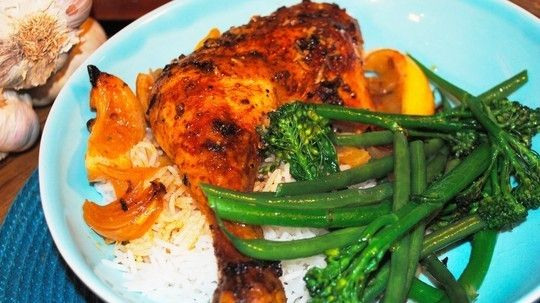 Paprika and coriander roasted chicken
