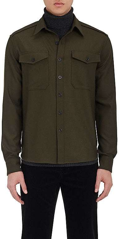 Vince Men's Crepe Military Shirt