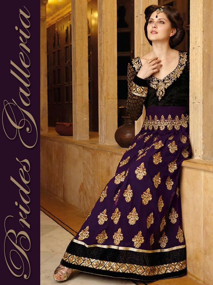 Purple Anarkali Suit at Brides Galleria  BGSU 4830