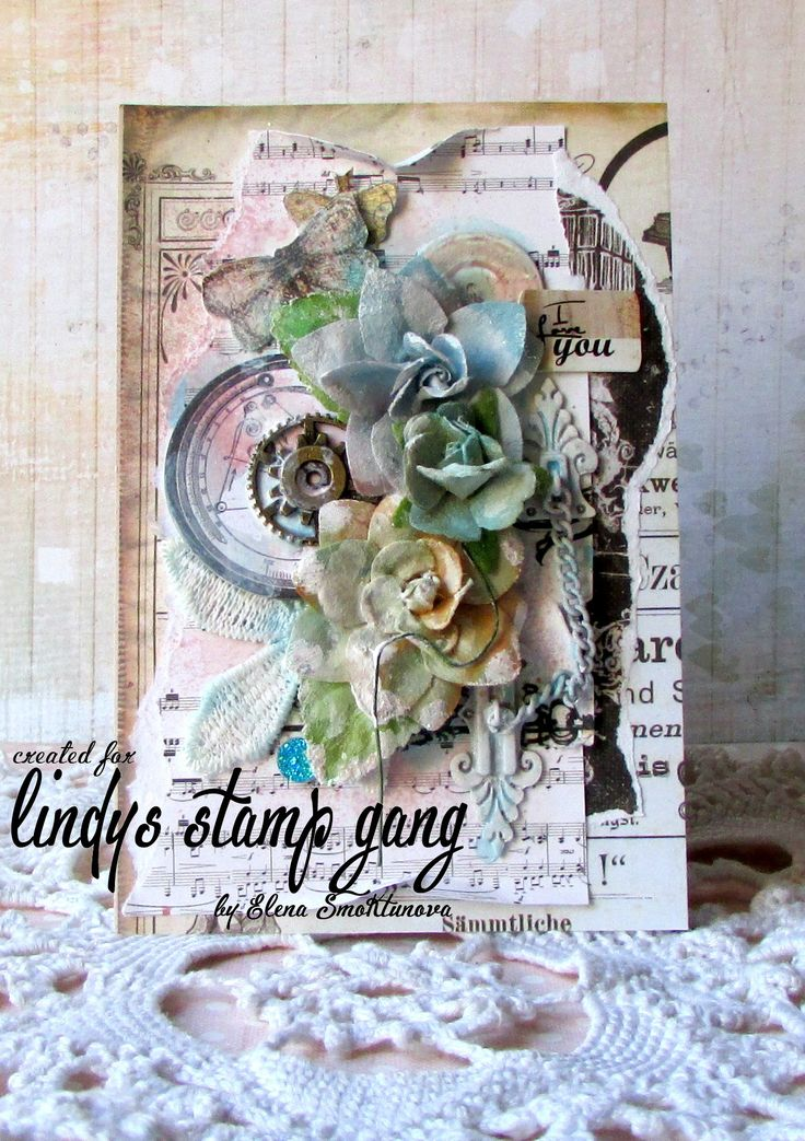 Mixed Media Card - Lindy's Stamp Gang