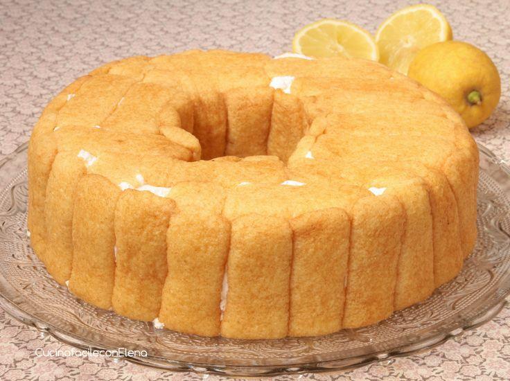 ciambella al limone senza cottura intera
