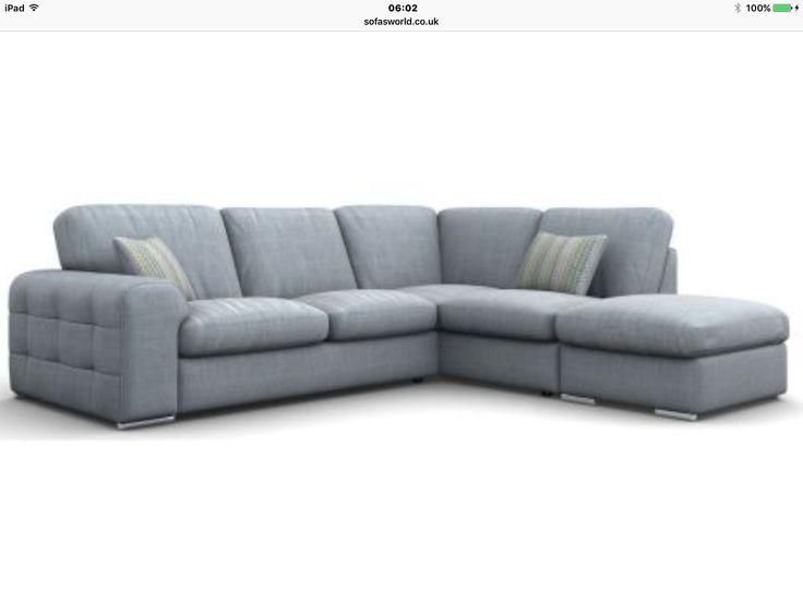 Charles blue lush sofa from sofasworld