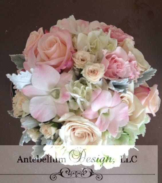 Blush Bouquet With Wedding Flowers Such As Orchids And Tea Roses Dallas