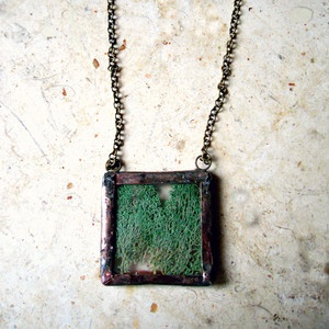 Woodland Terrarium Necklace now featured on Fab.