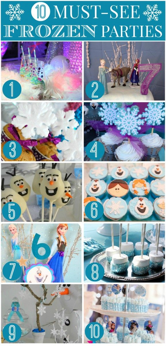 Check out these amazing Frozen parties from our community + free Frozen printables + Frozen party supplies! For more party ideas head to CatchMyParty.com.
