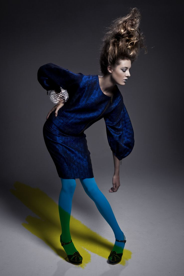 JOANNE HYNES AW08 #Electric blue suit #crystal cuff #editorial